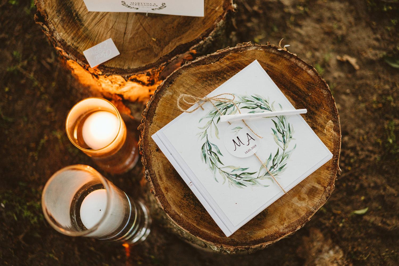 Ślub w plenerze przy lesie Martyna i Olek 57