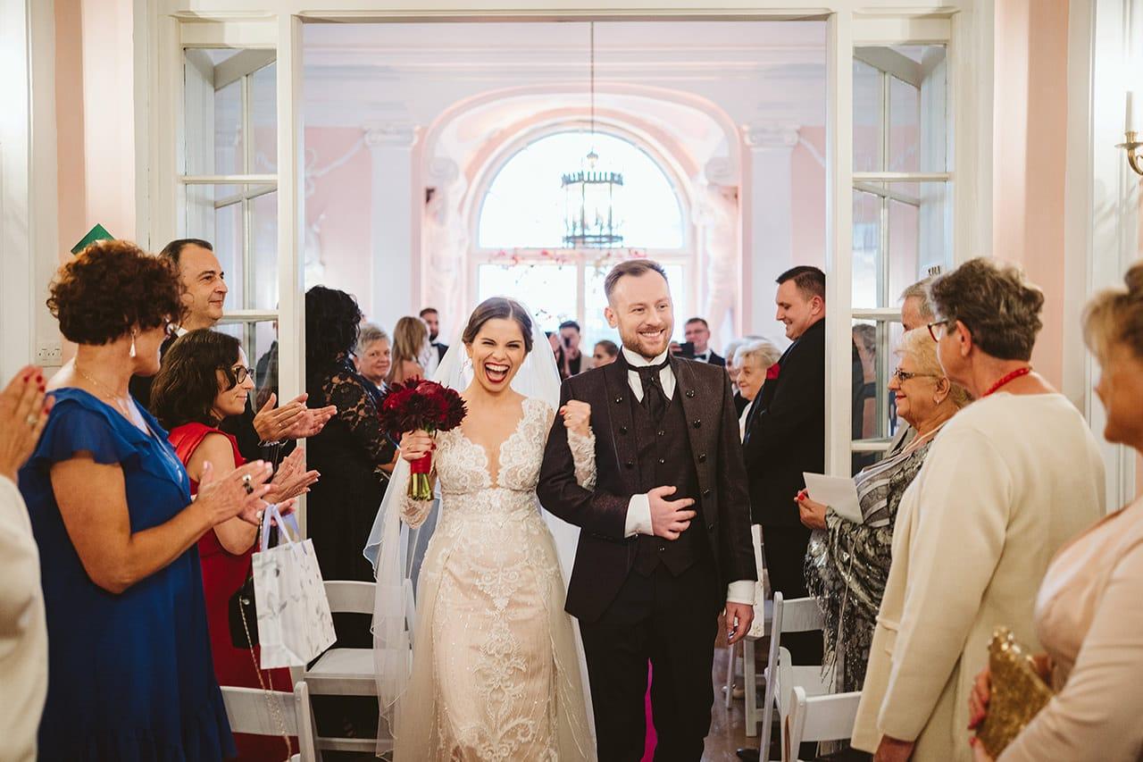 Ślub w Zamku Rydzyna Para Młoda